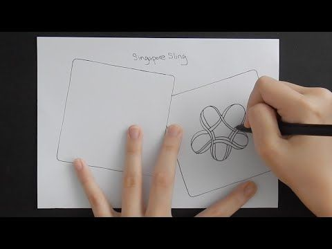 How to Draw Singapore Sling Zentangle Pattern - YouTube