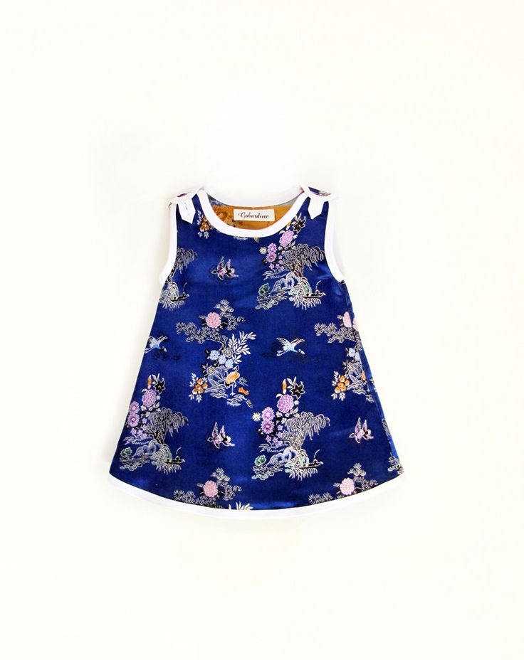 Baby girl electric blue Japanese inspired party dress by GabardineCouture on Etsy https://www.etsy.com/listing/199879316/baby-girl-electric-blue-japanese