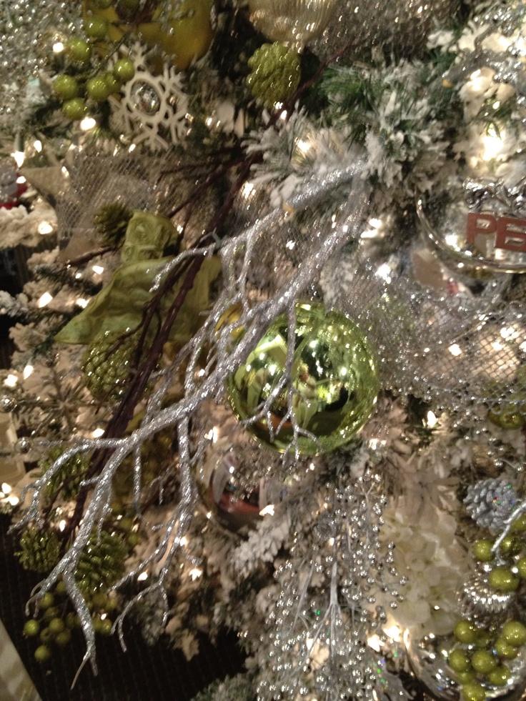 Green And Silver Christmas Tree Decor