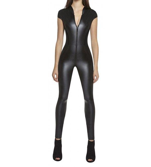 Women's Jumpsuit Bodysuit Overall Enya - Black - C7129AYDZR7 7