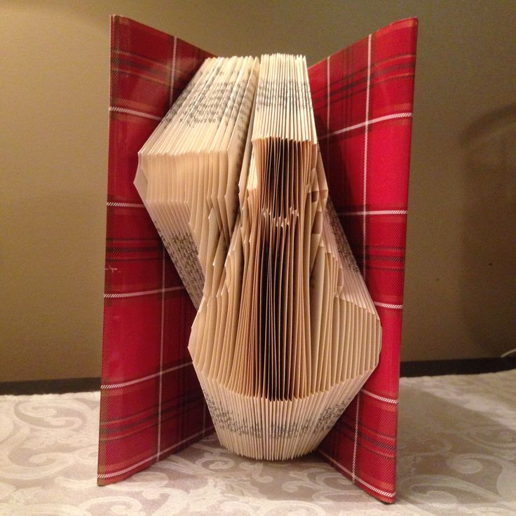 Snowman with broom, Folded book art