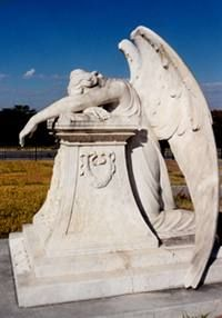 Denison, TX - Grayson County's Weeping Angel    Four Weeping Angels of Texas. i have also photographed this one as well ...