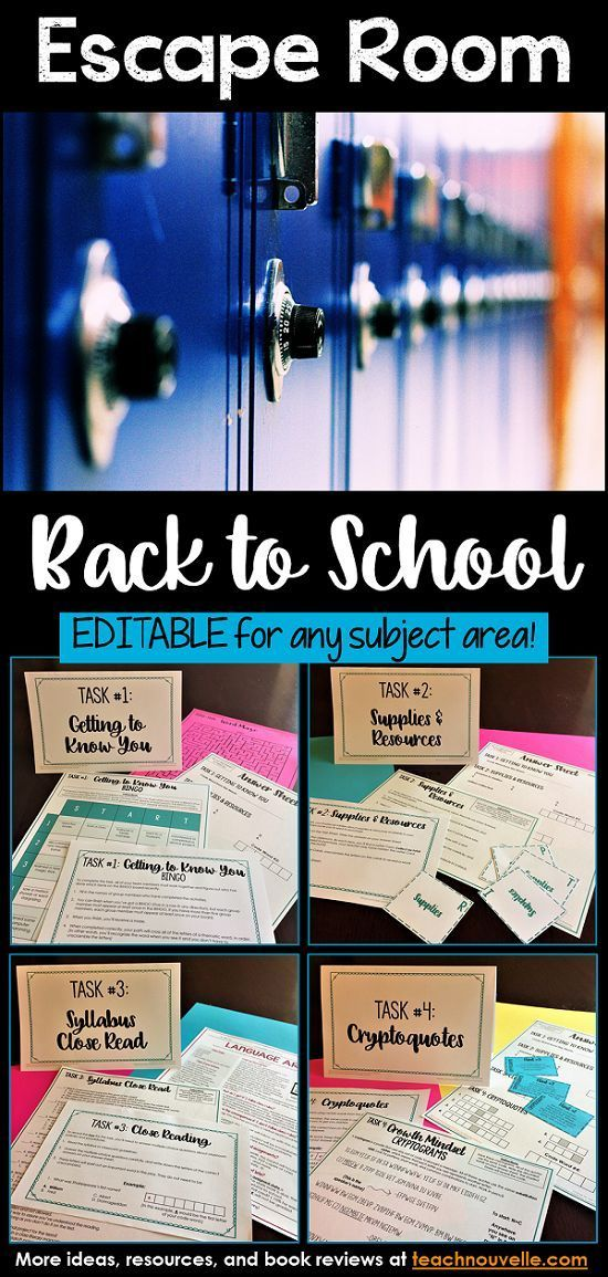 This EDITABLE back to school Escape Room includes icebreakers, a supply scavenger hunt, a syllabus close reading quiz, cryptoquotes, and an optional writing activity about Growth Mindset. You can present this as a Breakout Box (groups work at their desks) or as an Escape Room (groups seek clues you've hidden in the classroom). It has been designed to take 30-40 minutes. This resource includes a complete Teacher's Guide (set-up, printing checklist, differentiation) and Answer Key. This…