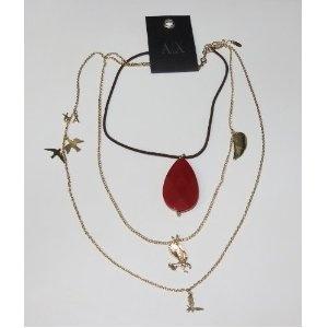 : Goldleath Design, Authentic Armani, Pendants Jewelry, Exchange Goldleath, Armani Exchange, Design Fashion, Exchange A X, Modern Necklaces, Armani Jewelry