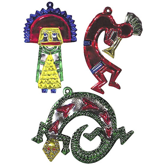 Add a southwest flair to your christmas tree with these for Mexican christmas ornaments crafts