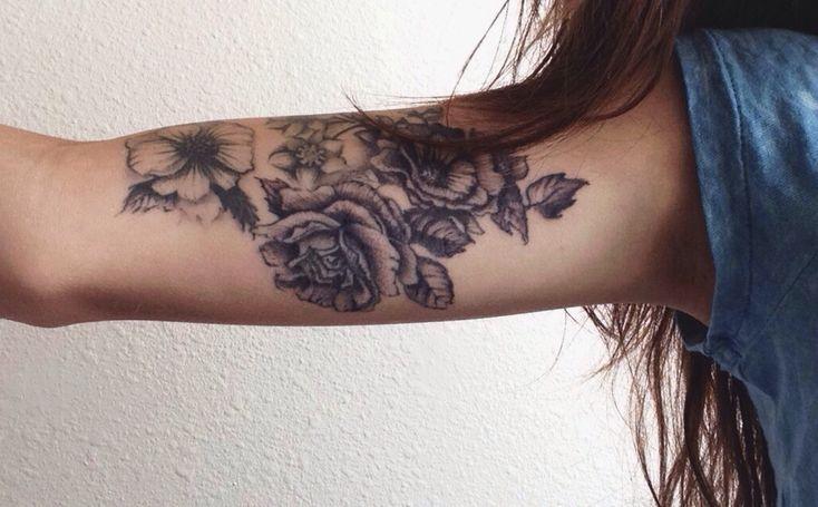 Flower Tattoo On The Inner Forearm Tattoo Artist Doy: Flowers Tattoo