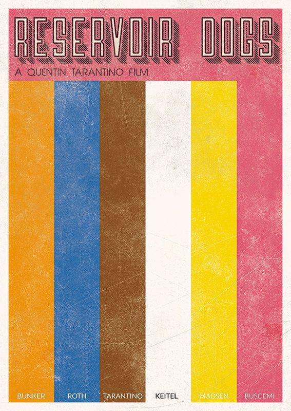 RESERVOIR DOGS Minimalist Movie Poster A3 A2 by BaydleCreative