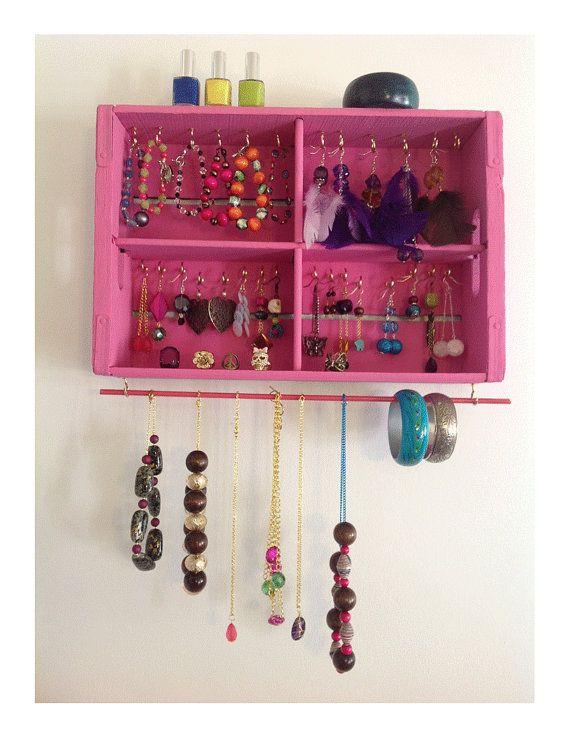 Bubble Gum Pink Organizer Box Nail Polish Jewelry