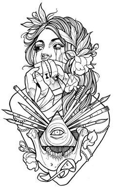 Awesome pic of someone's future tattoo by megan_massacre on Instagram. #tattoo #art