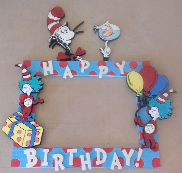 Cat In The Hat Birthday Props