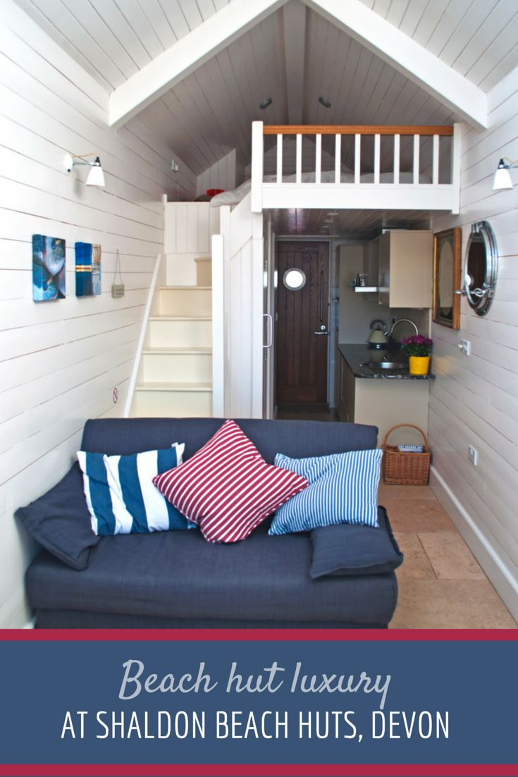 A luxury beach hut stay on the Devon coast at Shaldon Beach Huts #England