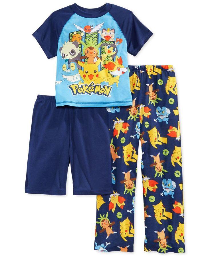 Ame Boy S Or Little Boys 3 Piece Pokemon Pajamas Cooper