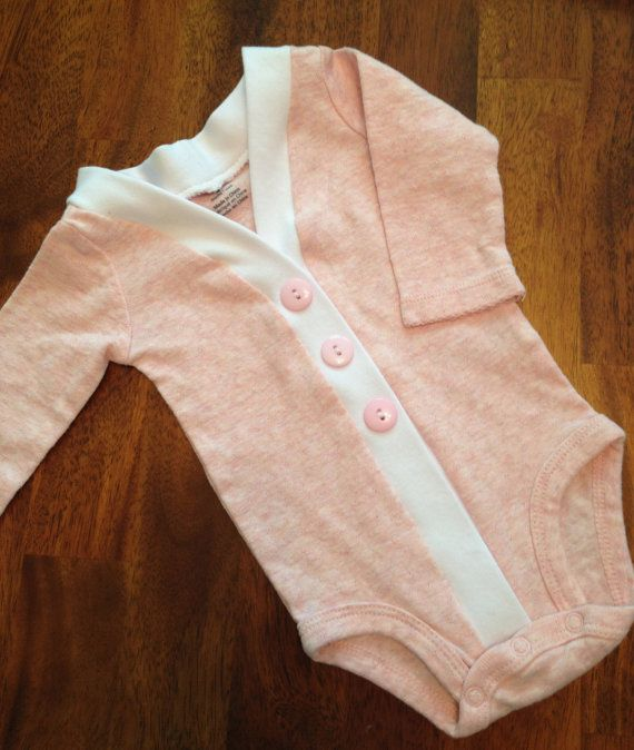 Baby Cardigan One Piece Pink Infant Cardigan Baby Girl by ColbyAve, $27.00
