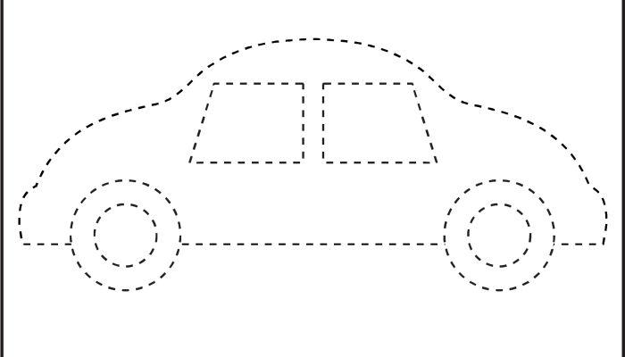 picture tracing car 1 worksheet dcd pinterest shape preschool shapes and pictures. Black Bedroom Furniture Sets. Home Design Ideas