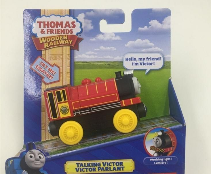 RARE NEW Thomas And Friends Wooden Magnetic Railway Model talking Train Engine Track talking victor NIB