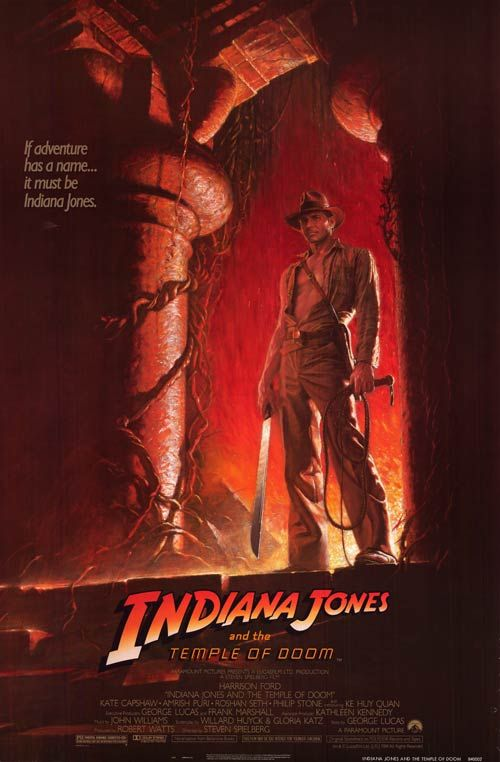 Indiana Jones and the Temple of Doom: Temple, Movie Posters, Great Movie, Harrison Ford, Picture-Black Posters, Steven Spielberg, Doom 1984, Favorite Movie, Indiana Jones