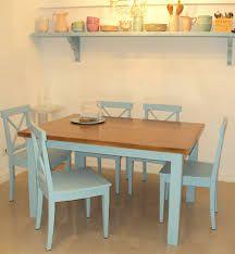 Resultado de imagen para mesas de pino pintadas
