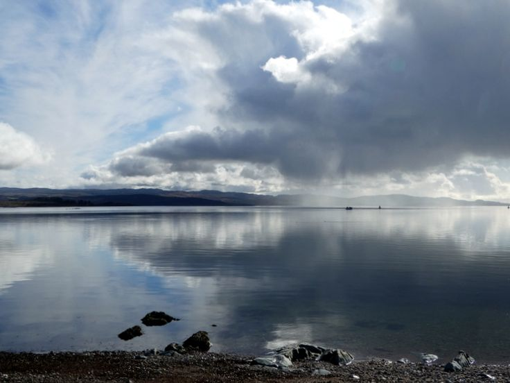 Towards the mouth of Loch Fyne on a calm March morning.