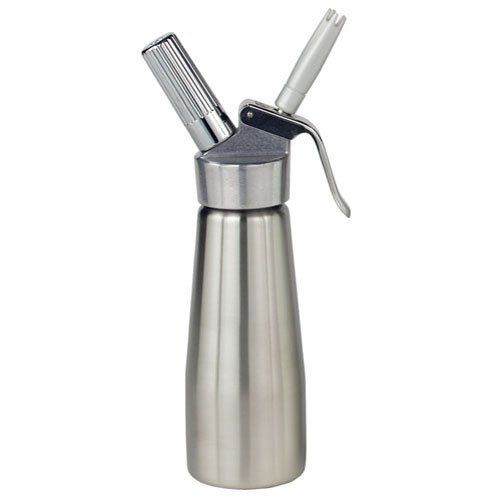Espresso Supply 03122 16 oz Stainless Steel Profi Cream Whipper by Espresso Supply. $139.99. An excellent way to cut costs in your kitchen or coffee shop is to make your own whipped cream. And with the Stainless Steel Profi Cream Whipper (03122) from Espresso Supply you can yield up to five times the amount of heavy cream used. The 16 ounce size of this model is ideal for creating fresh, small batches of whipped cream for a variety of applications. Along with being industrial ...