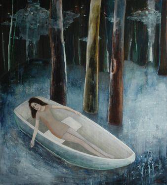 "Saatchi Online Artist June Sira; Painting, ""Stargate"" #art"