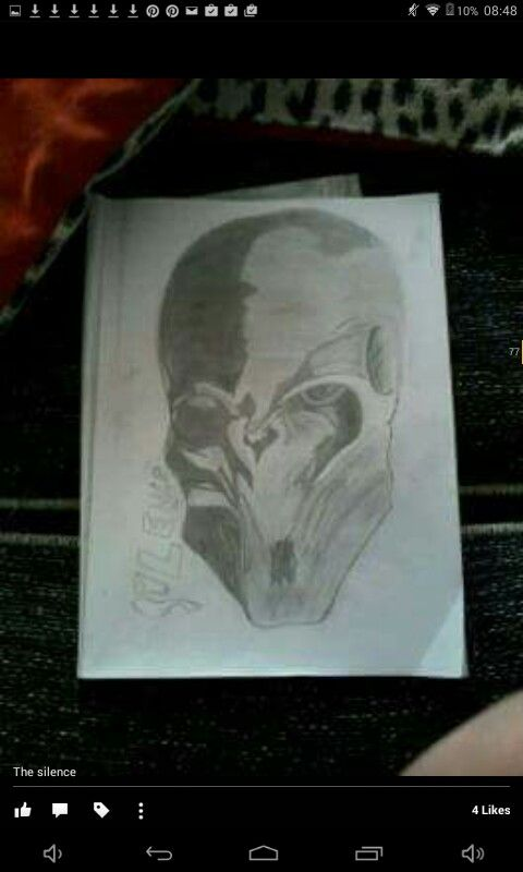 A very unfinished picture of The Silence from Doctor Who, drawn by myself