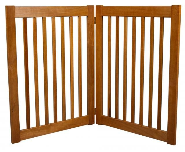 "27"" Freestanding Wood Dog Gate"