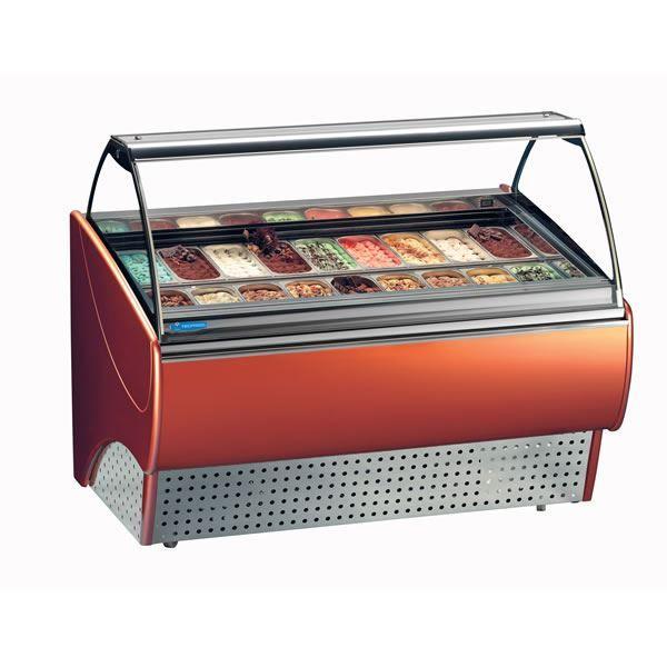 Tecfrigo Gran Gala 12 12 Pan Ice Cream Display Freezer Ice Cream Freezer Commercial Cooking Equipment Catering Equipment