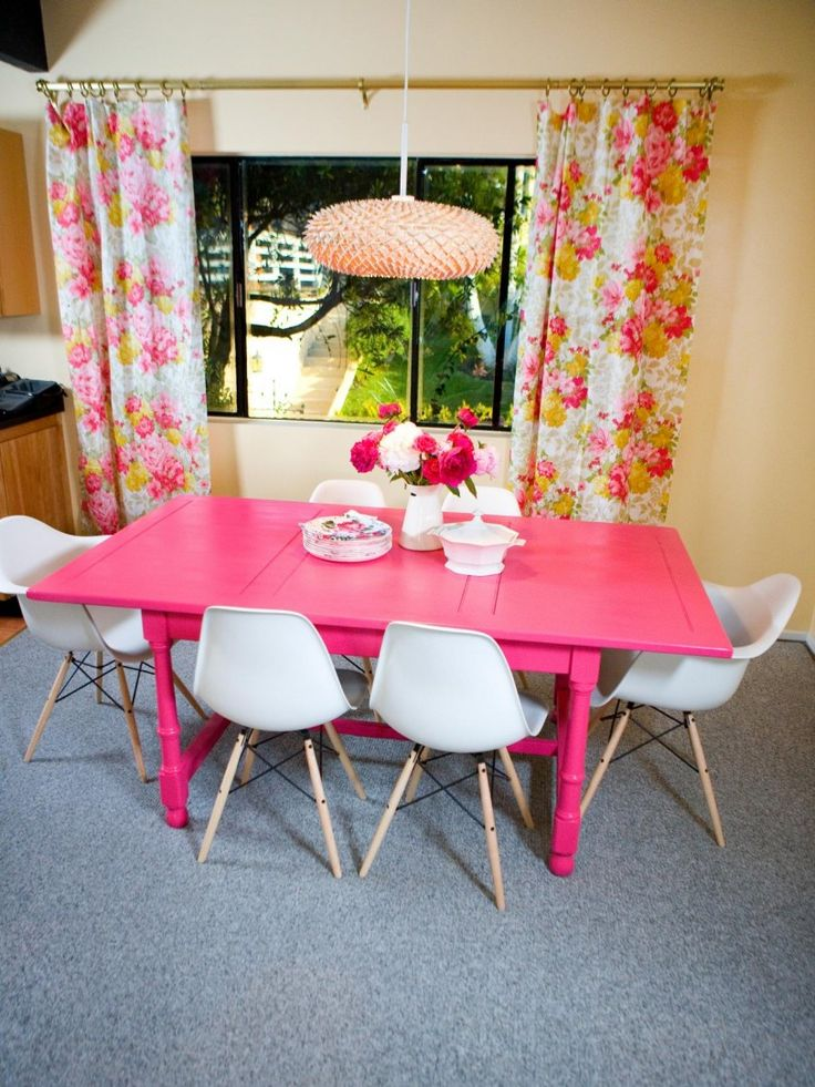 Pink Dining Room Ideas With Modern Design Photos Sets Cheap
