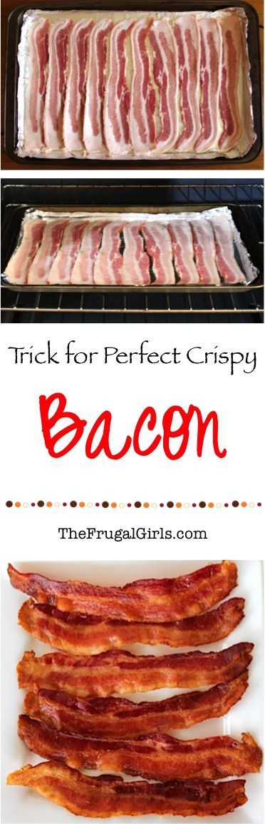 190°C, 15-20 minuten. The Trick to Perfect Crispy Bacon! {without the mess!} ~ from TheFrugalGirls.com ~ this is the only way I cook my bacon now... SO easy!!