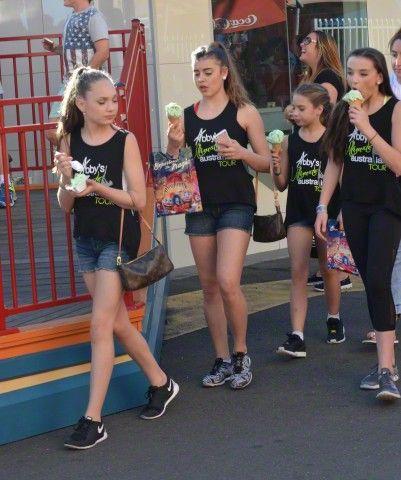 """The """"Dance Moms"""" Cast Spotted at Luna Park Sydney `tls"""