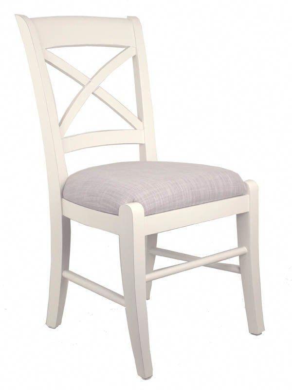 Cross Back Dining Chair - A/Cream + Bisque #whitedinningchairs