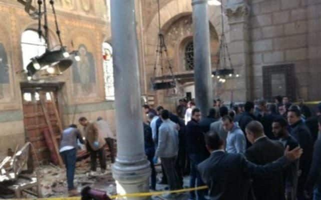 The death toll in a church bombing in the Egyptian Nile Delta city of Tanta has climbed to 21, with 50 more injured, state television said on Sunday.