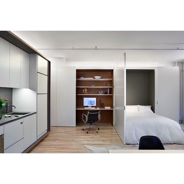 NYC Tribeca Loft / LYNCH/EISINGER/DESIGN / Ph: Amy Barkow. Medical  StudentsMicro ApartmentApartment RenovationSmall ...