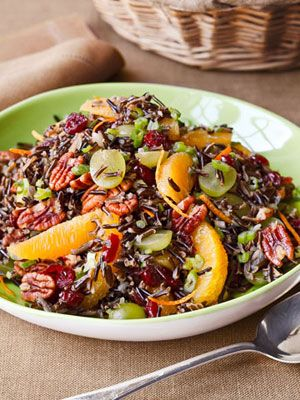 Ina's Wild Rice Salad - she said on tv that it's great for buffets or make-ahead because it tastes best at room temp - my kind of dish!
