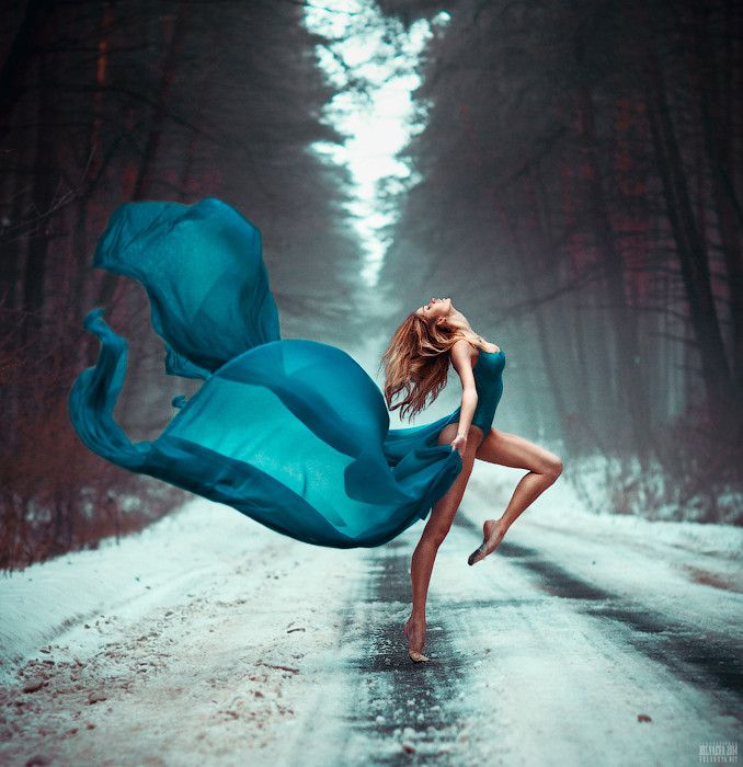 """drape art / color contrast ; )  cold winter hot blues """"untitled"""" by Светлана  Беляева 2014-02 on 500px 60770308"""