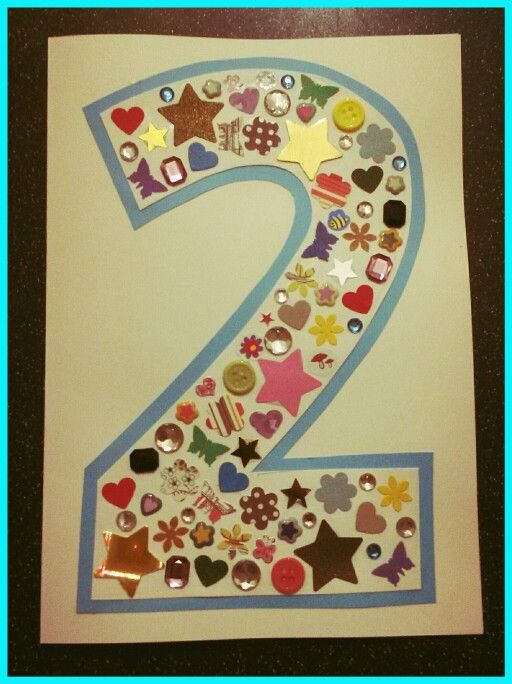 Handmade birthday card for a 2 year old #happybirthdaycard #happy2ndbirthday