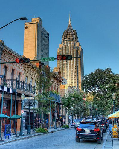 Dauphin Street, Downtown Mobile, Alabama