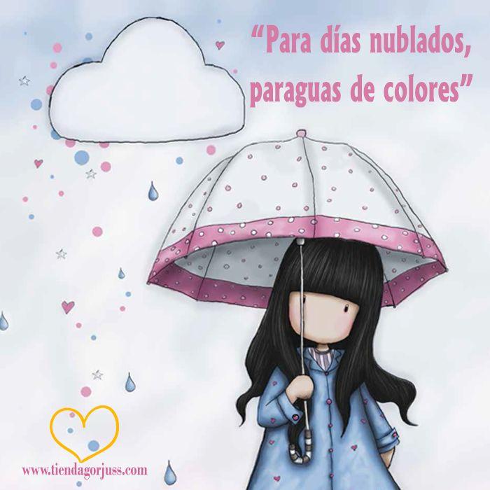 Para Dias Nublados Paraguas De Colores Feliz Lunes