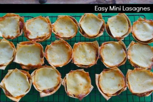 easy mini lasagnes