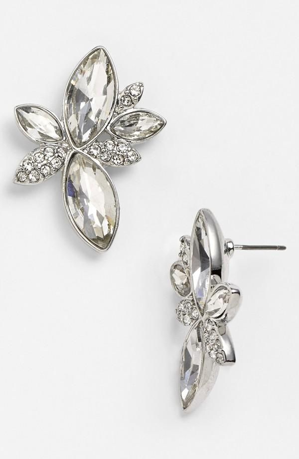 Leaf design cluster earrings, by Nina