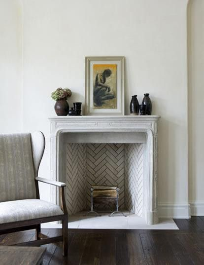 Herringbone Fireplace On Pinterest Fireplace Surrounds Fireplaces