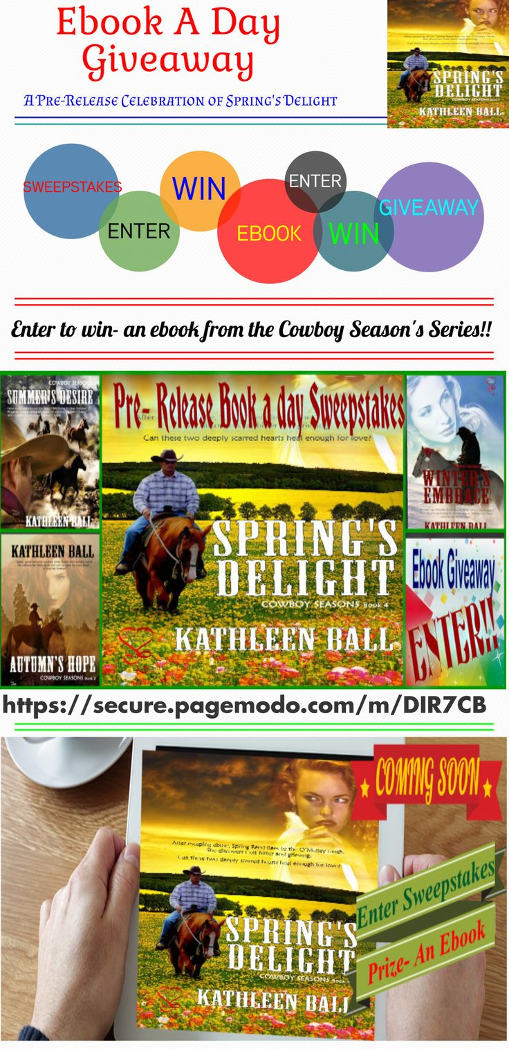 Ebook A Day Giveaway** Countdown To Spring's Delight Release Enter To