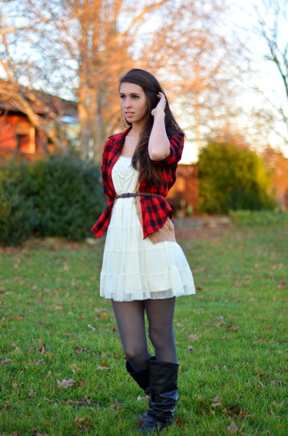 Plaid, Lace and Leather.