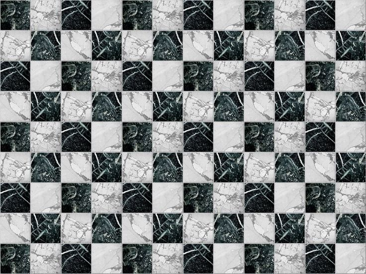 Chess Marble Floor Black White Checkered Pattern   Andrea Outloud