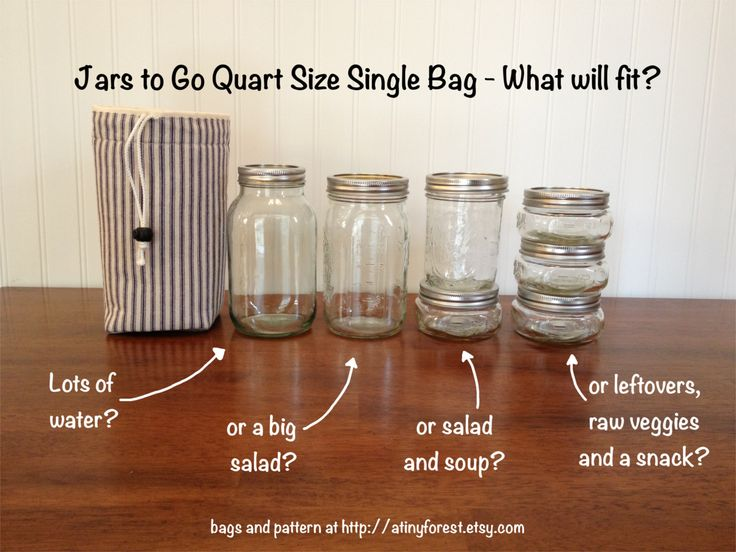 How much lunch will fit in a quart size jar bag you can