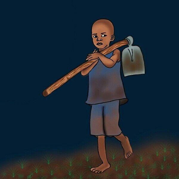 African Child Sketch