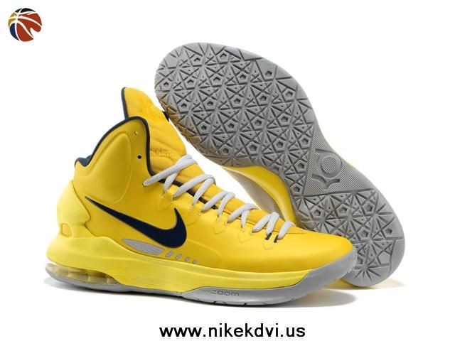 new product 81131 10a53 ... Kevin durant, Nike zoom Fast Shipping To Buy Nike Zoom KD V Yellow Grey  554988 700 Sale Online Nike KD V Birch Photo Blue Sail Team Orange ...