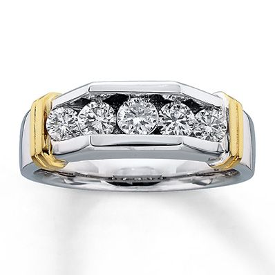 Previously Owned Mens Band 1 ct tw Diamonds Two Tone Gold14 best BLING  images on Pinterest   Wedding bands  Black  . Kay Jewelers Mens Wedding Bands. Home Design Ideas