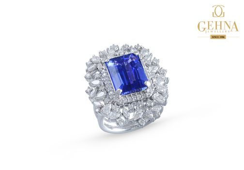 Beat your mid-week blues with this gorgeous sapphire and diamond ring.