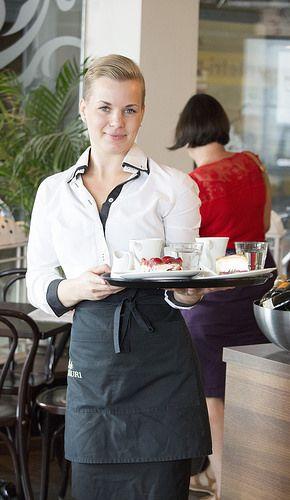 Waitress, Cafe Lauri   by visitsouthcoastfinland #visitsouthcoastfinland #Lohja # Finland #cafe #kahvila #waitress